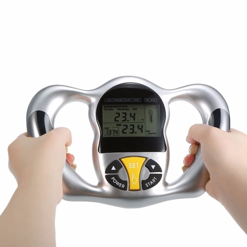 Wireless Portable Digital LCD Screen Handheld BMI Tester Body Fat Monitors Health Care Analyzer Fat Meter <font><b>Detection</b></font>