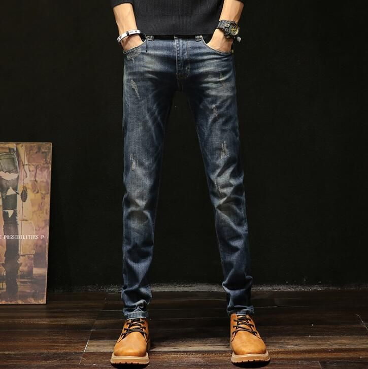 2019 New Arrival Stretch Spring Men Jeans Causal Hot Selling Male Trousers Free Shipping