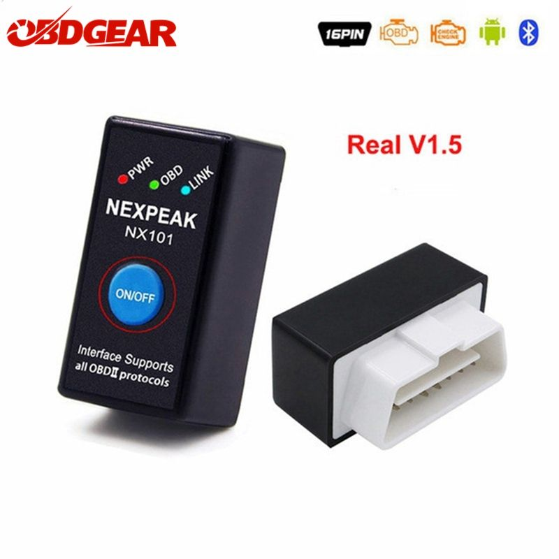 2019 nouveau Mini OBD2 Elm327 V1.5 Bluetooth adaptateur voiture Scanner de Diagnostic automatique pour Android/PC automobile Scaner orme 327 Bluetooth