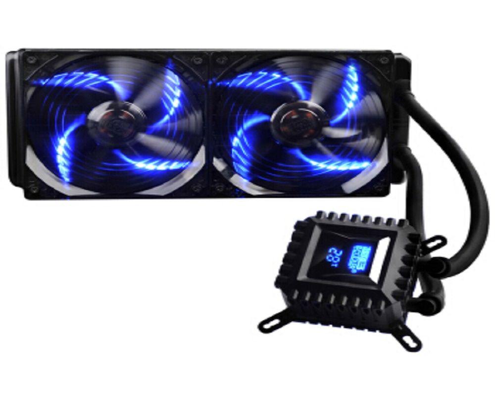 PcCooler Einfrieren Flüssige CPU kühler Ruhig digitalanzeige Wasser Flüssigkeit Kühlsystem mit 120mm oder Doppel 120mm CPU Lüfter