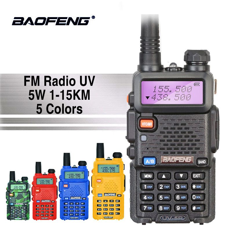 Baofeng UV-5R Professionnel Talkie Walkie 5 w UHFVHF Portable UV5R Deux Voies CB Radio Station UV 5R Chasse HF Émetteur-Récepteur ham Radio
