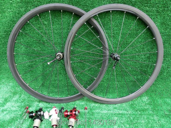 New 700C 38mm clincher rims Road bike 3K UD 12K full carbon fibre bicycle wheelsets lightest aero spokes 23 25mm width Free ship