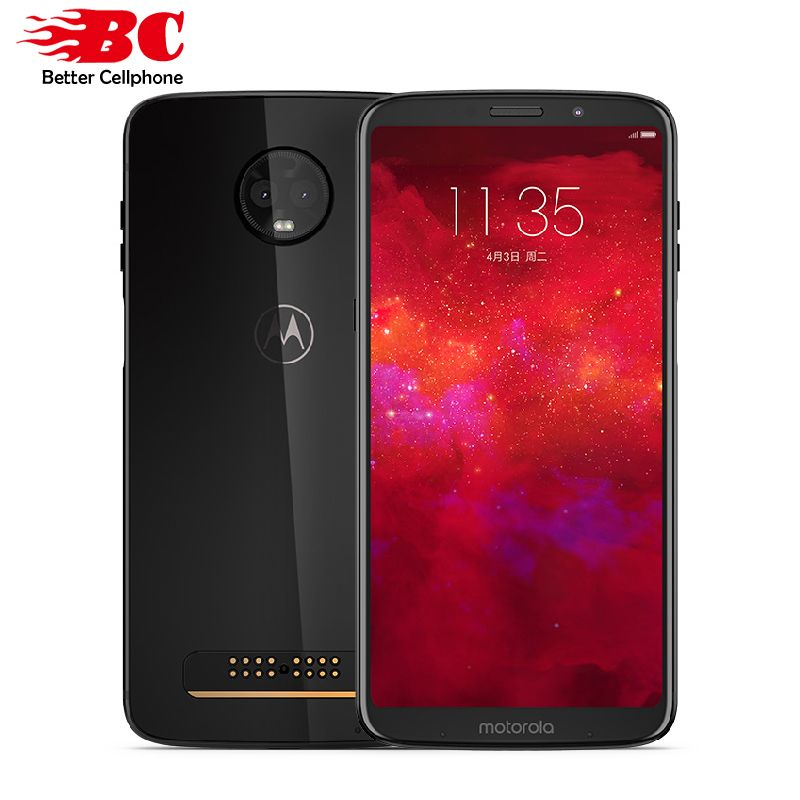 New Motorola MOTO Z3  6GB RAM 128GB ROM LTE 6.0 Dual camera 12MP Snapdragon 835 Octa Core Android 8.1 Dual SIM  Mobile Phone