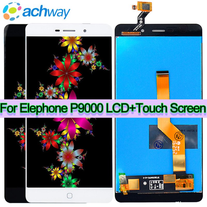 Original Tested New Screen Elephone P9000 LCD P9000D P9000E Display + Touch Screen Digitizer Assembly Replacement+Tool P9000 LCD