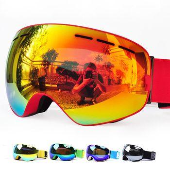 Новый Benice брендовые лыжные очки двухслойные UV400 Анти-туман большой Лыжная маска очки на лыжах мужские и женские зимние очки для катания на с...
