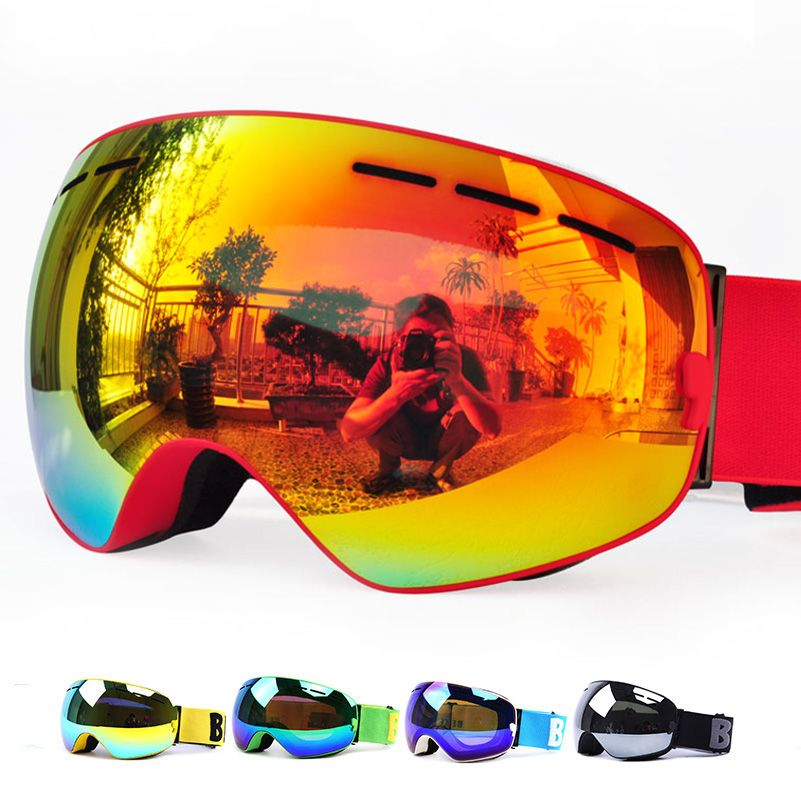 New Benice brand ski goggles double layers UV400 anti-fog big ski mask glasses skiing men women snow snowboard goggles GOG-3100