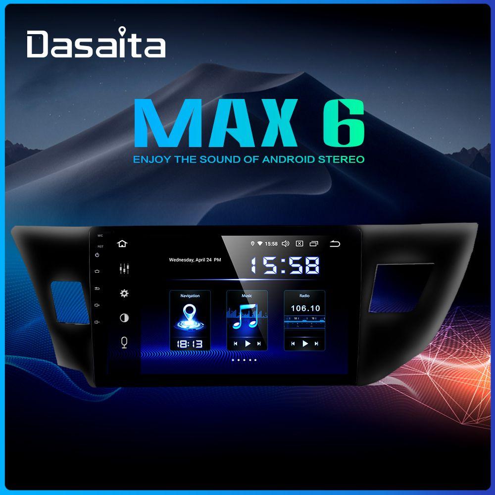Dasaita 10,2 Multimedia Auto Android 9.0 für Toyota Corolla 2014 2015 2016 TDA7850 Multi Touch Screen HDMI 4GB RAM