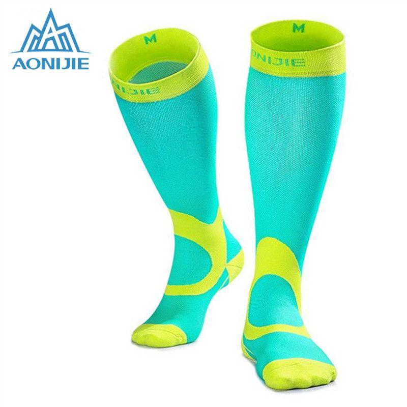 AONIJIE подножка сжатия Носки для девочек Бег Для Мужчин's Велоспорт носки calcetines Ciclismo Hombre Носки для девочек Велоспорт сжатия Бег носок