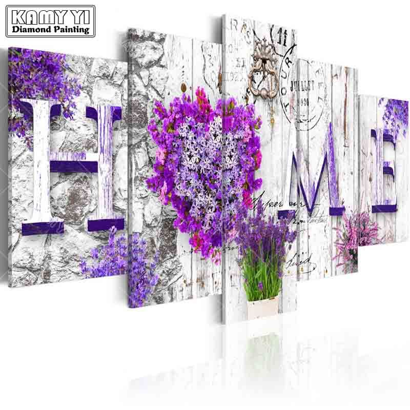 full square drill Diamond embroidery Flower grass <font><b>House</b></font> 5D DIY diamond painting Cross Stitch Multi-picture home decoration
