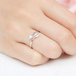 Lnrrabc 1 PC Baru DROP Shipping Paduan Panah Kristal Wanita Bebas Alergi Cincin Hot Sale Terbuka Sagitarius 3 Warna Yang Dapat Disesuaikan cincin