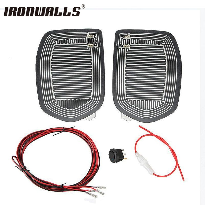 Ironwalls Quick Warm Car Side Mirror Glass Heated Pad Defogger Heater Mat Unviersal remove snow/frost/ice/raindrop/fog drop