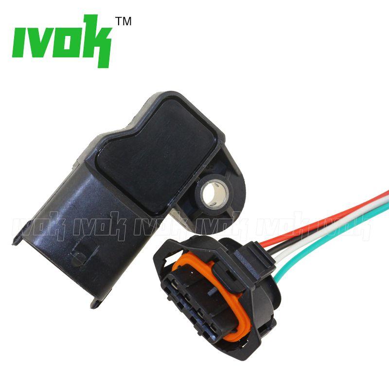 With Plug 3.5Bar MAP Sensor Turbo Boost Air Pressure Sensor For Fiat Mercedes Nissan VW 0281002456 0 281 002 456 0261230373