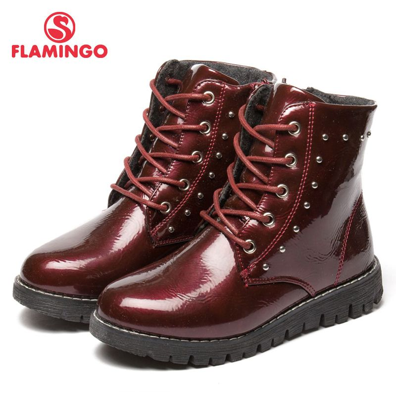 FLAMINGO Herbst/winter warm Halten Boot Hohe Qualität Spitze-Up Anti-slip Kinder Schuh für Mädchen Kostenloser verschiffen 82B-MLB-0911/0912