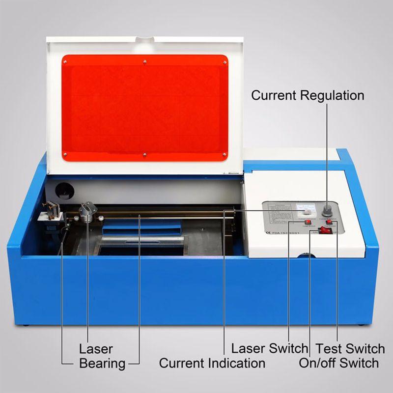 WUNDERBARE Laserengraver Maschine 40 Watt Mit Usb-anschluss 3020 Graviermaschine/Laserschneidanlage 220 V