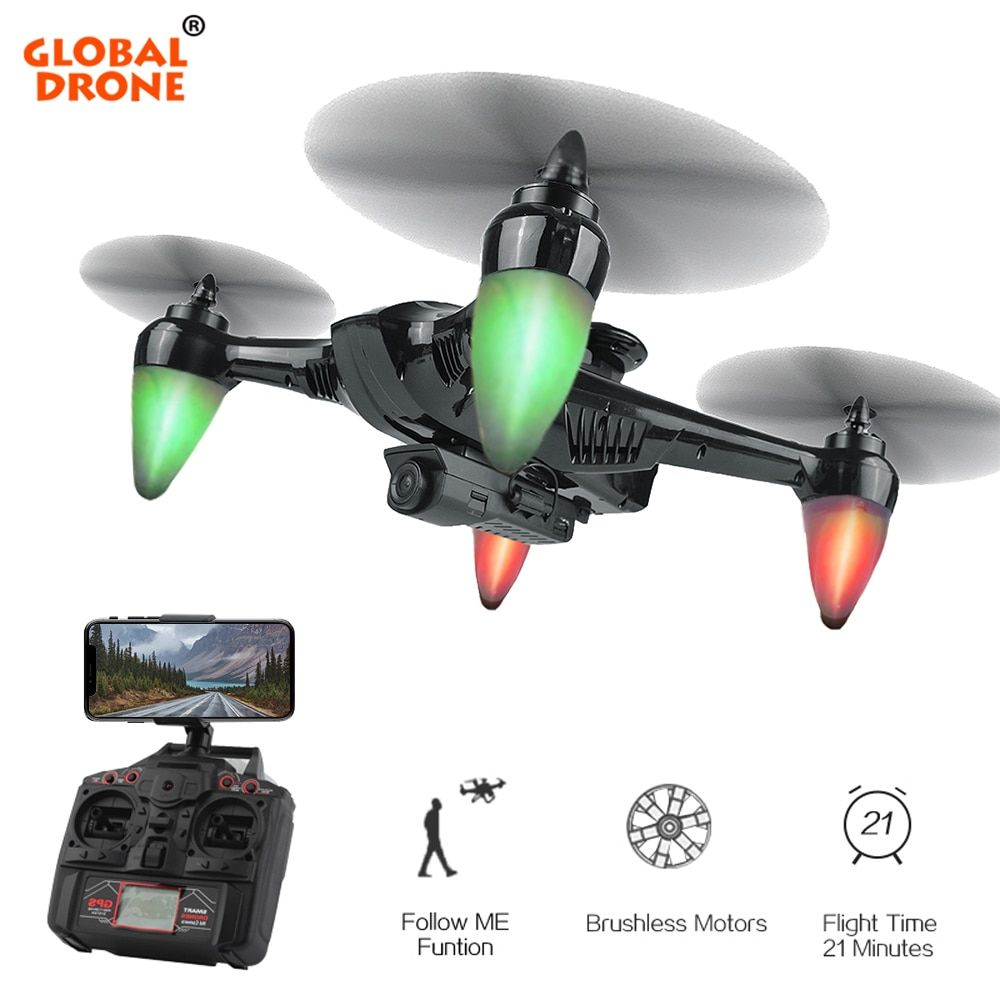 Global Drone RAY GW198 Professional GPS Brushless Dron Hover Quadcopter Auto Follow GPS Drones with Camera HD VS S70W X183