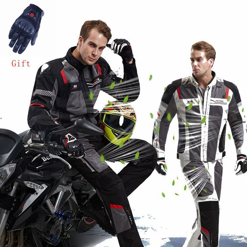 MOTOBOY Summer breathable Motorcycle Jacket Moto+Protector Motorcycle Pants Moto Suit Touring Clothing Protec free shipping EMS