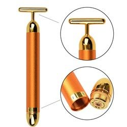 CAMMUO Slimming Face Pop 24k Gold Colour Vibration Facial Beauty Stick Lift Skin Tightening Wrinkle Bar