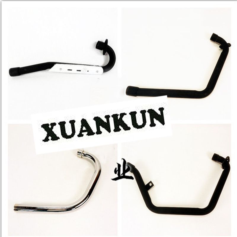 XUANKUN Motorcycle Refitted Front Exhaust Plating Color Matte Black