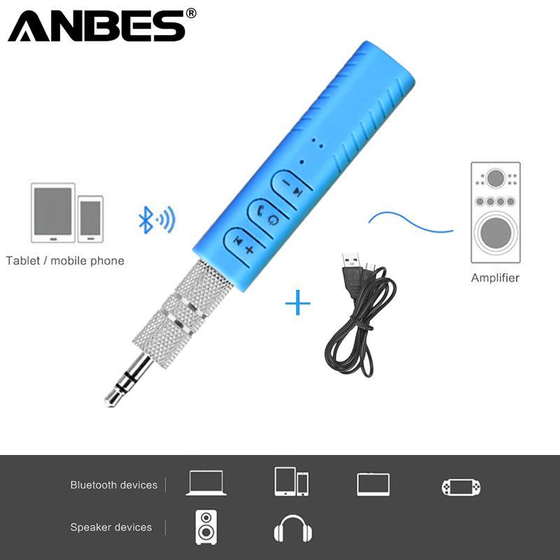 Bluetooth Car Kit 3,5mm AUX Music Receiver Audio Adapter freisprecheinrichtung Call Auto Drahtlose Kit für Auto Lautsprecher kopfhörer
