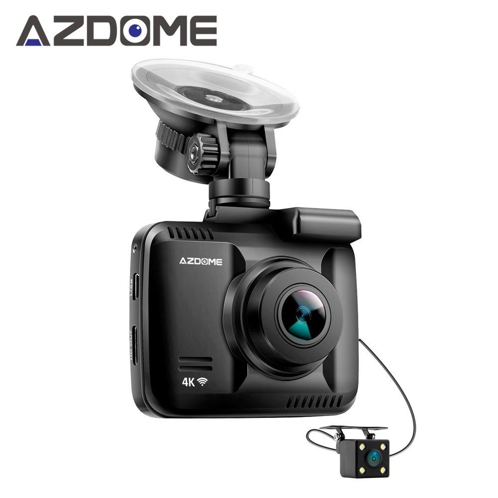 Azdome GS63H Dual Lens FHD 1080P Front + VGA Rear Car DVR Recorder Dash Cam Novatek 96660 With Rear Camera Built in GPS WiFi