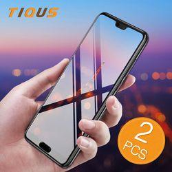 TIQUS Écran Protecteur Pour Huawei P20 Pro P20 P10 Lite de protection en verre Trempé Pour Huawei P9 P8 Lite 2017 Protection Film