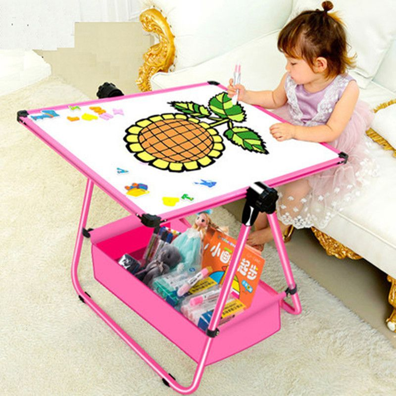 Children's magnetic plate household small blackboard <font><b>graffiti</b></font> board can lift and lift the baby Sketchpad