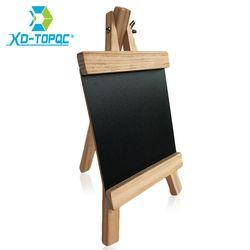 Xindi 12*23 cm mini escritorio Pizarras madera de pino caballete Tizas Board Kid madera tablero negro plegable tableros de escritura envío Tizas bb70