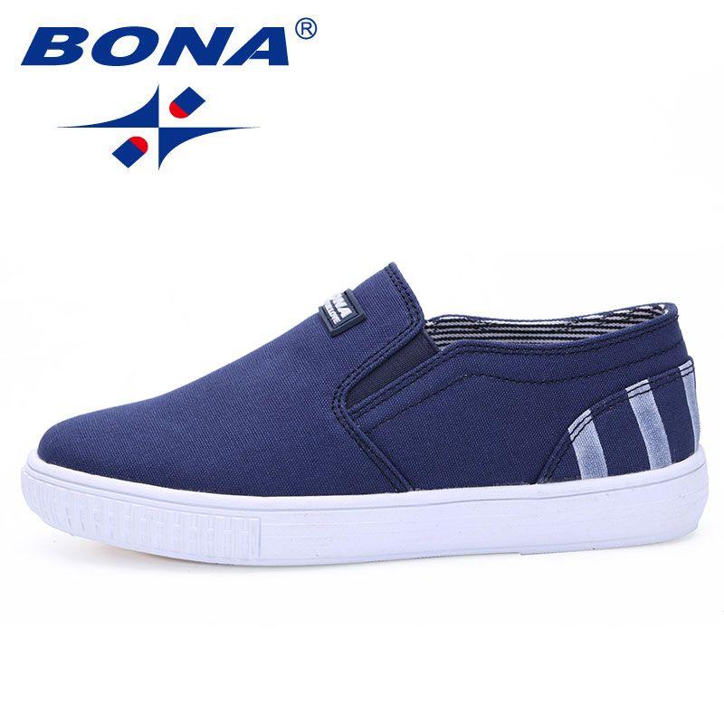 Bona neue populäre kinder shoes gummiband jungen ourdoor walking shoes leinwand mädchen casual shoes weiche schnelles freies verschiffen