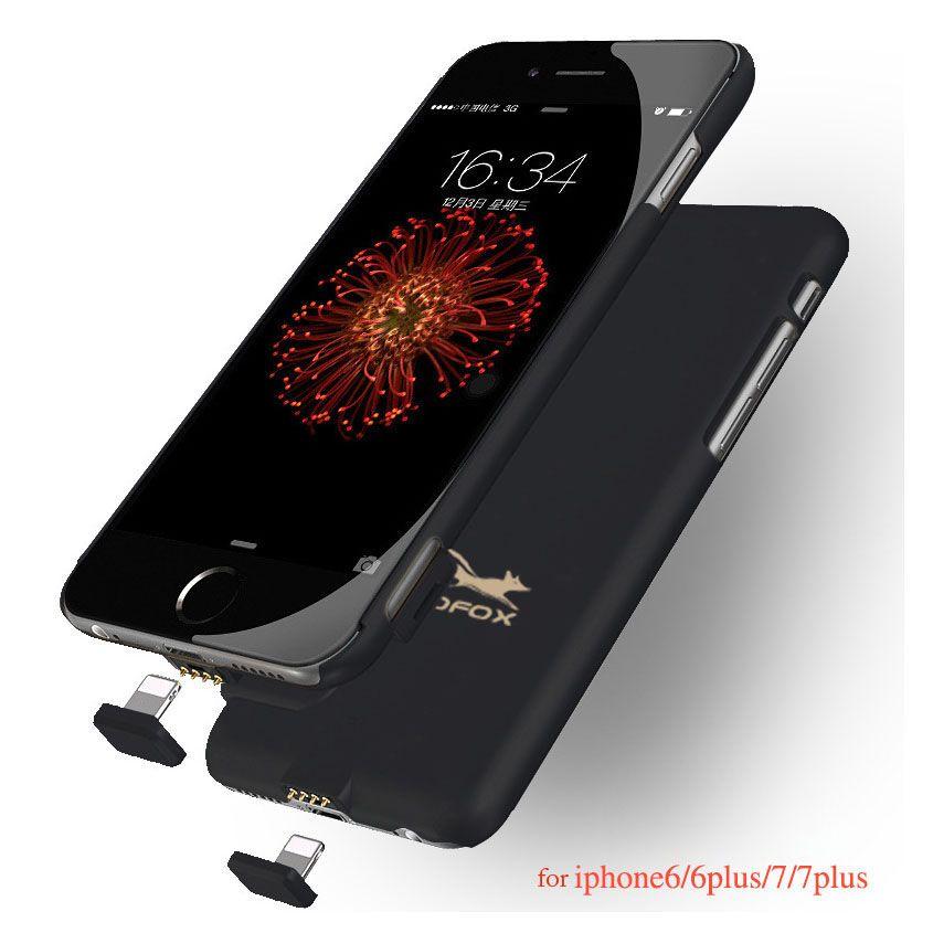 7 7 Plus Chargeur de Batterie Housse Pour iPhone 6 6 S 7 Plus Cas Puissance Banque Pack Mince Ultra Mince Sauvegarde Externe Portable Bateria