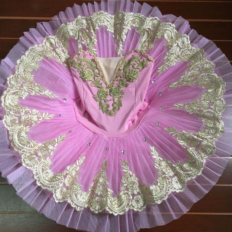 2017 Pink Children's Swan Lake Costume Women Adult Ballet Leotard Kid Ballet Dress Professional Ballet Tutus Dress For Girls