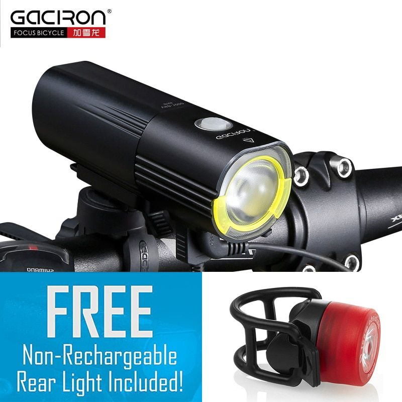 GACIRON Bicycle bike Headlight Waterproof 1000 Lumens MTB Cycling Flash Light Front LED Torch Light Power bank bike accessories