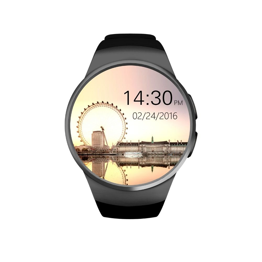 ot01 Original KW18 Full Round IPS Heart Rate Smart Watch MTK2502 BT4.0 Smartwatch for ios and Android Samsung Intelligent Watch