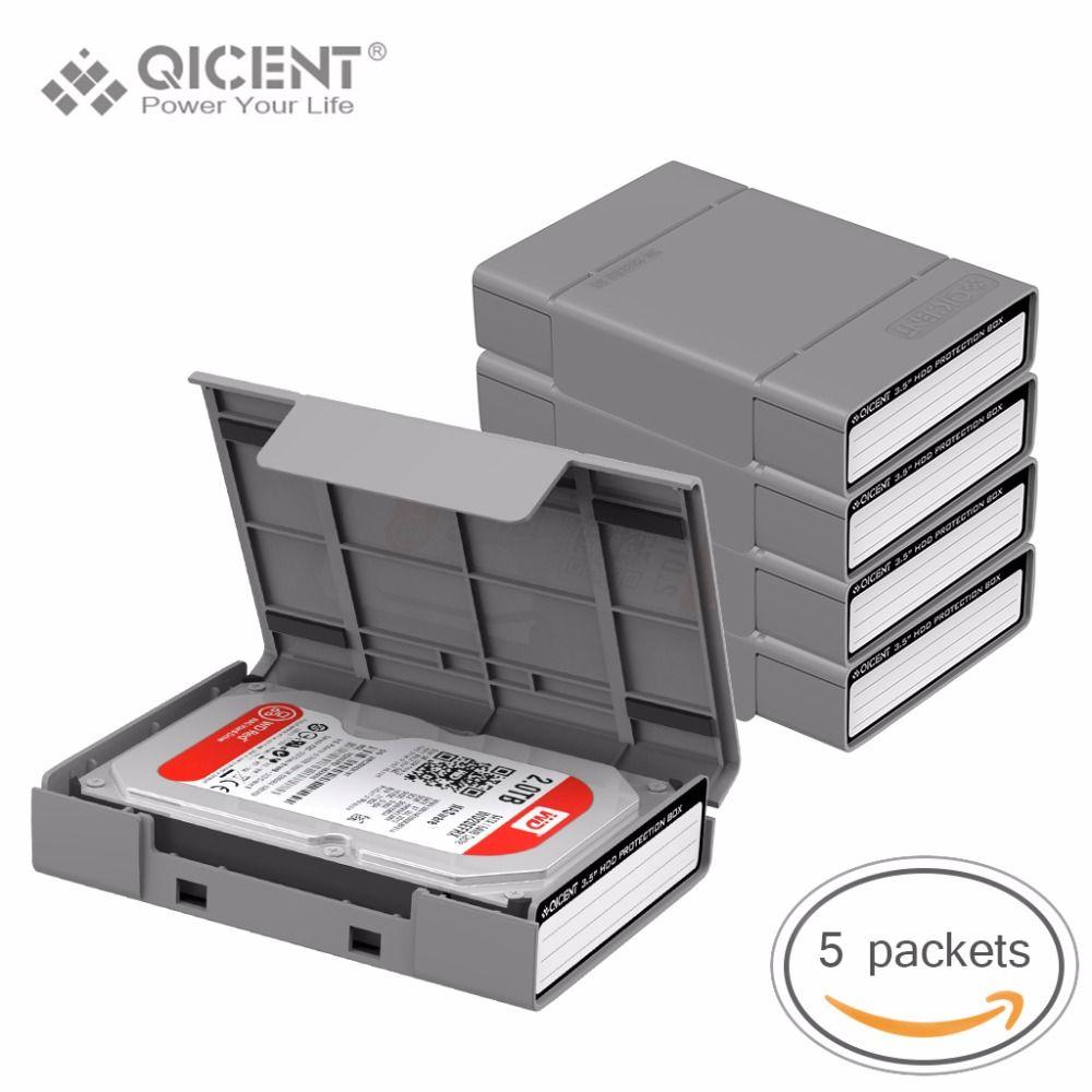 QICENT 5Psc/lot Portable 3.5 ''Externe SATA IDE SAS Disque Dur De Stockage Étui de protection Cover-Gris Couleur
