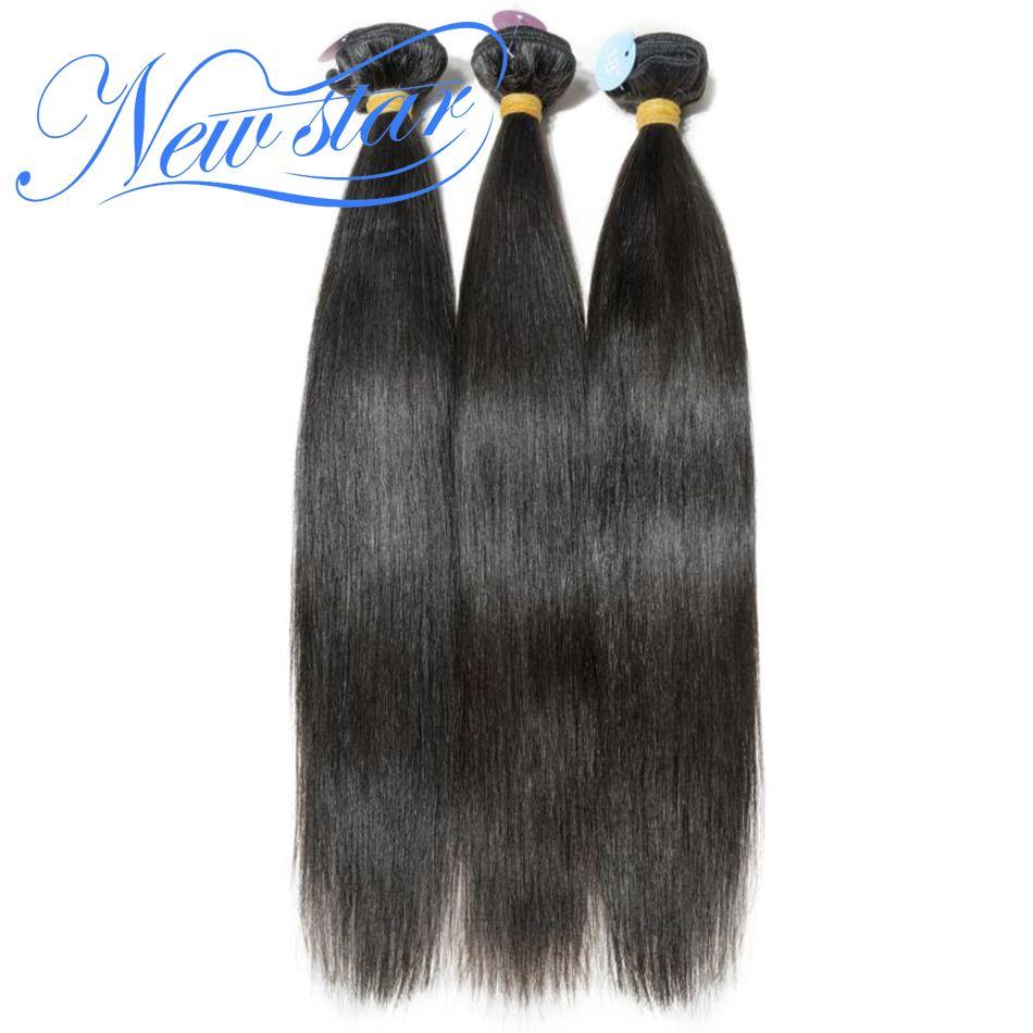 Estilo brasileño de la Virgen Del Pelo Humano Recto Extensión 3 Bundles Trato 100% Cutícula Intacta Sin Procesar New Star Hair Weaving