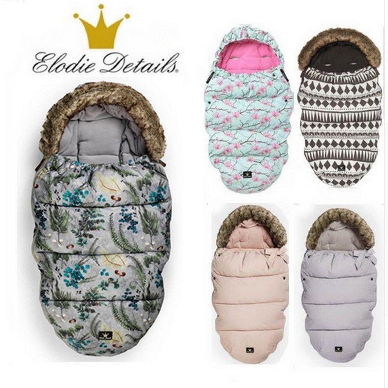Elodie Details stroller Sleeping Bag baby footmuff with fake fur collar waterproof sleeping bag warmer stroller sleepsack