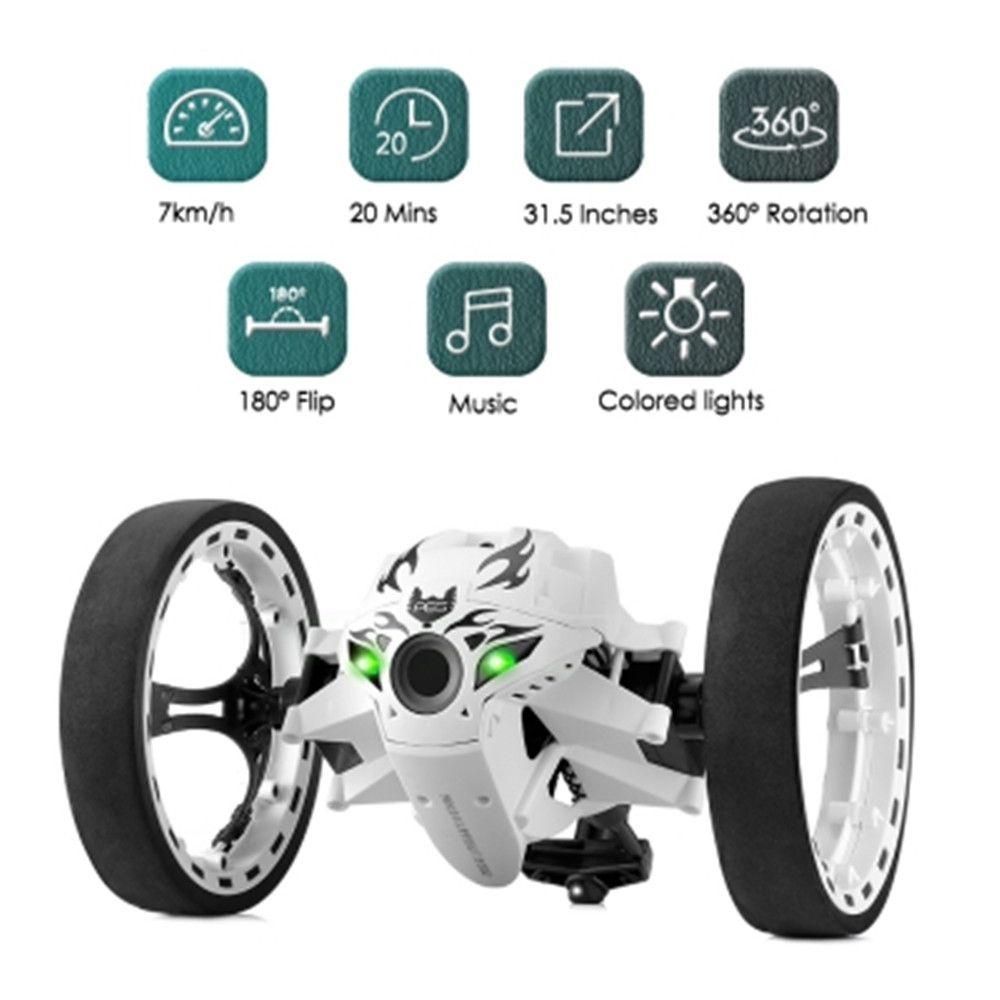 Nouveau RC voiture rebond voiture télécommande jouets RC Robot 80cm haut saut voiture Radio contrôle LED voitures Machine LED nuit jouets enfants cadeaux