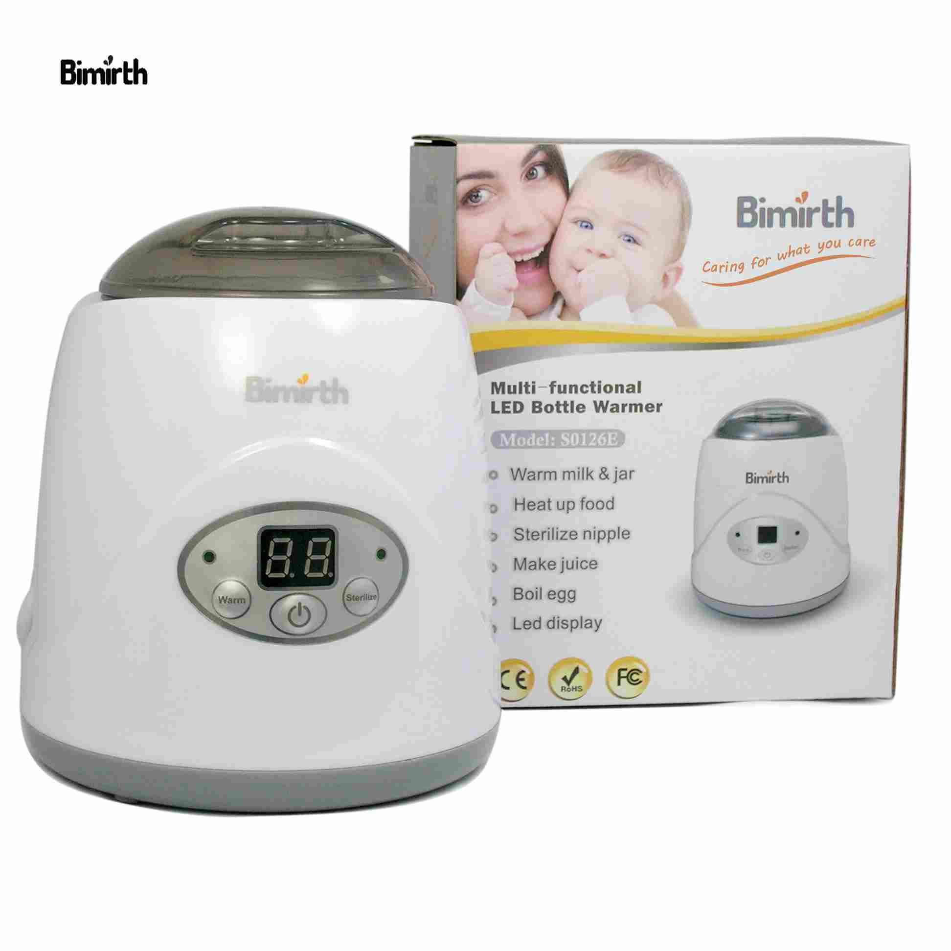Bimirth Safe BPA-Free Constant Heating Multifunctional Practical Milk Heater Portable Baby Bottle Warmer Esterilizador