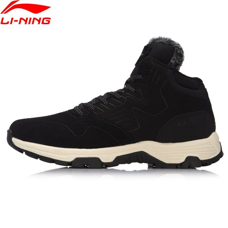 Li-Ning Men Shoes LN Cozy The Trend Series Walking Shoes WARM SHELL Wearable Anti-Slippery Sneakers Li Ning Sports Shoes AGCM193