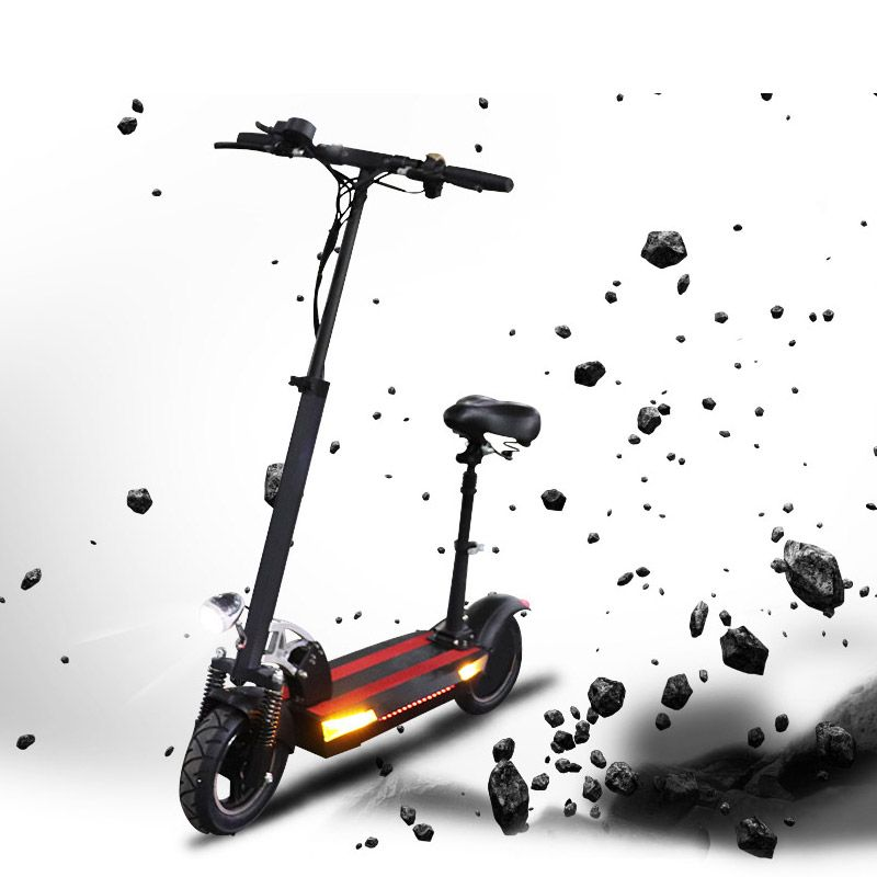 48V 26A lithium-batterie elektrische roller max über 100km 48V500W Falten elektro-bike mit sitz elektrische skateboard kick roller