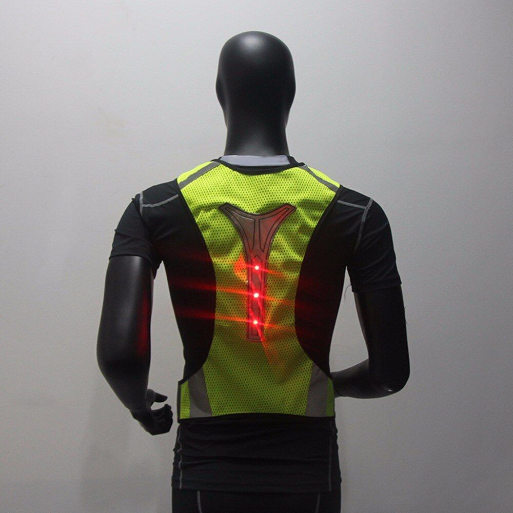 New Adjustable Unisex High Visibility Security Reflective Vest Super Thin Breathable Night Running Cycling LED Reflective Vest