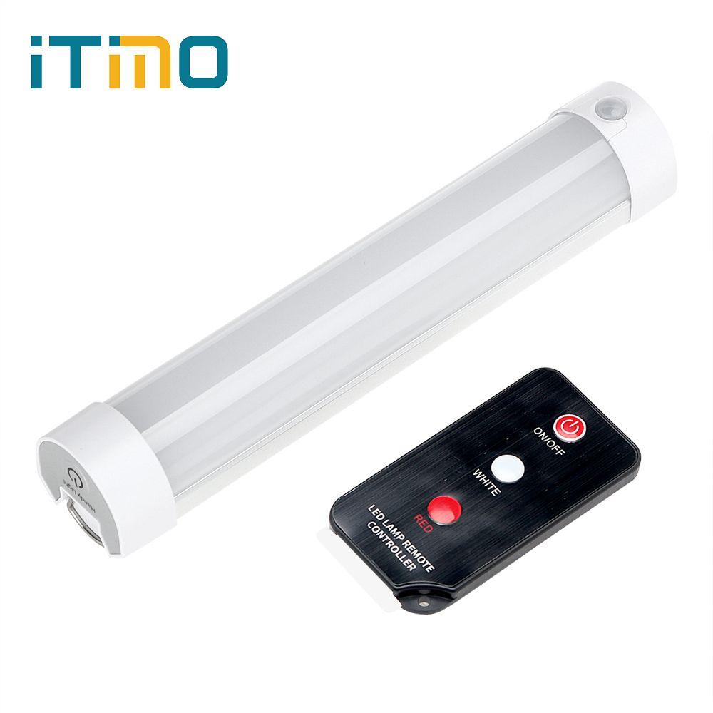 ITimo LED SOS de Excursión Que Acampa Linterna de Luz De Emergencia Portátil con Control Remoto Recargable Lámpara Reparación Magnética Luz