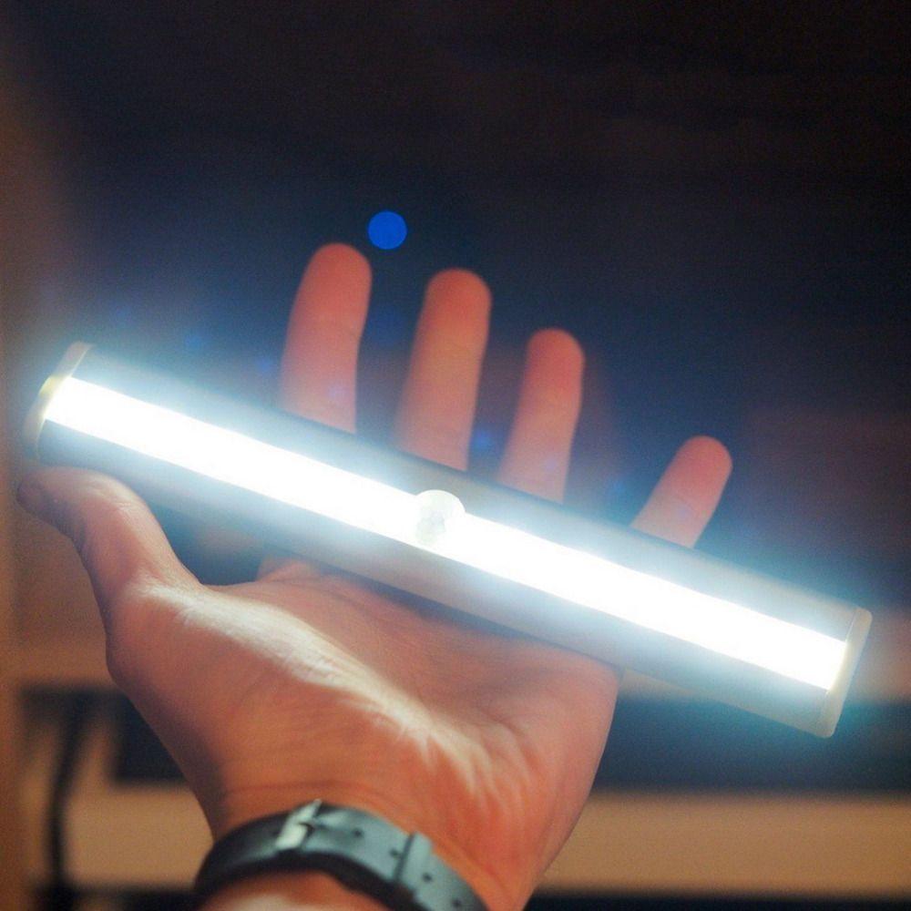Vente chaude 10LED IR Infrarouge Détecteur De Mouvement Lampe Sans Fil Capteur Éclairage Placard Batterie De Nuit Lampe Lumière de Garde-Robe