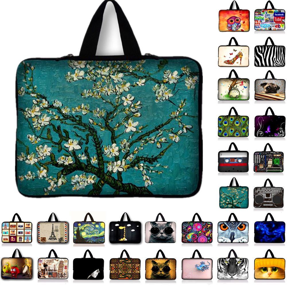 Van Gogh Portable Ultrabook Soft Sleeve Laptop Bag Case Cover for MacBook 9.7 11.6 13.3 14.4 15 15.6 17.3 inch For Asus Acer HP