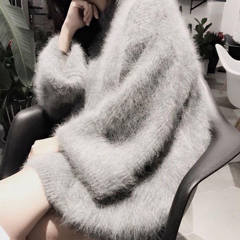 Новые оригинальные норки кашемировый свитер Длинные женские кашемировые пуловеры трикотажные чистого норки куртка thickr Бесплатная shippingm1016