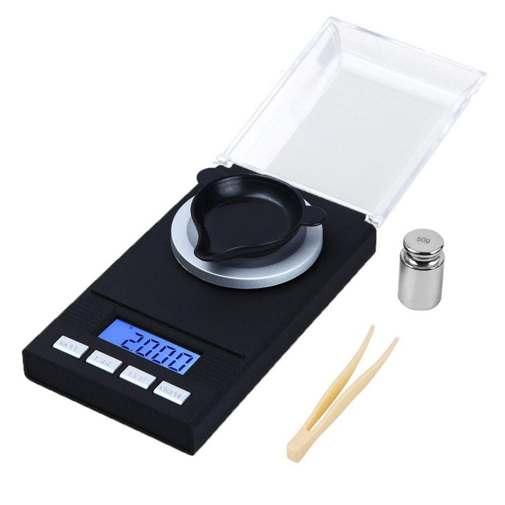 Высокая точность 50 г/20 г 0.001 г Цифровой боец грам Весы баланс ювелирных изделий с бриллиантами Вес электронные весы Весы