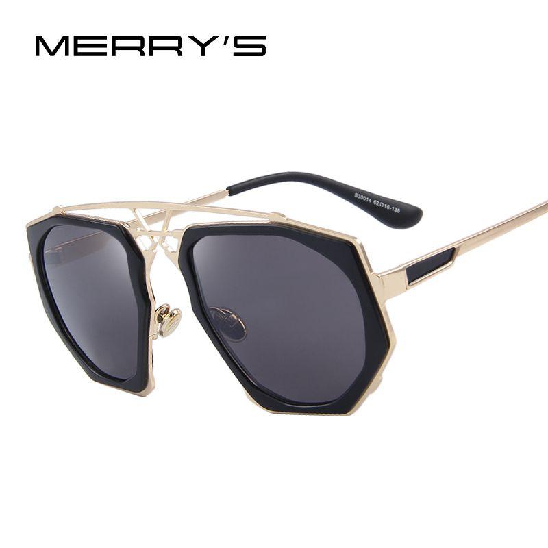 MERRY'S Frauen Sonnenbrille Neueste Vintage Großen Rahmen Goggle Sommer Stil Marke Design Sonnenbrille Oculos De Sol S'8041