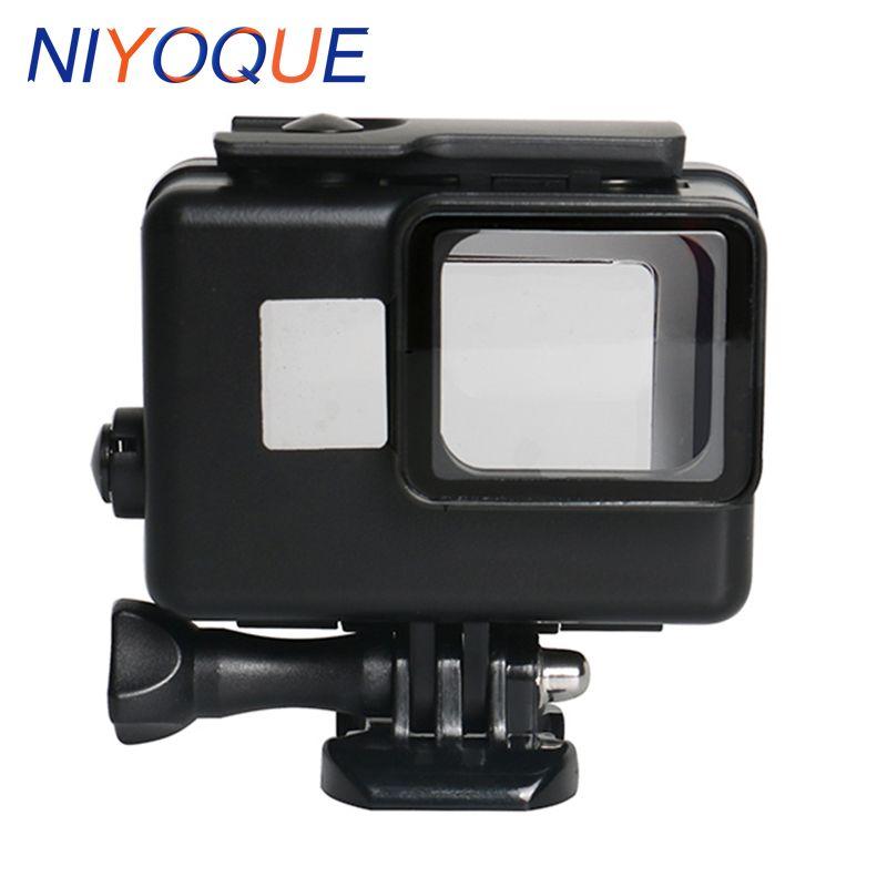 Para Go Pro Hero 6 y 5 subacuática 45 m estuche impermeable GoPro Hero 6 y 5 caso cubierta accesorios negro