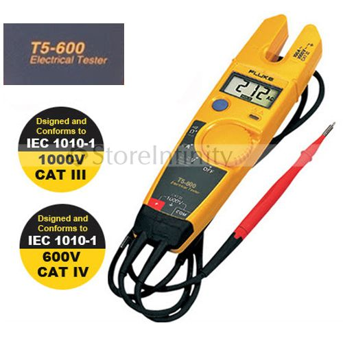 Free Shipping FLUKE T5-600 Clamp Meter Continuity Current Electrical Tester With Current