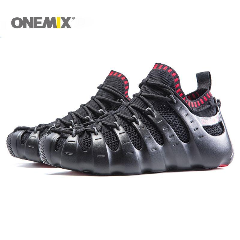 Onemix Rome chaussures gladiateur ensemble chaussures hommes et femmes chaussures de course de jogging sneakers chaussures de marche en plein air chaussette-comme sandales pantoufle