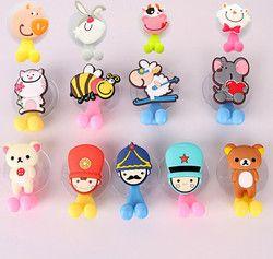 Многофункциональный милый мультфильм животное присоска держатель для зубных щеток аксессуары для ванной комнаты 24 цвета Горячая продажа